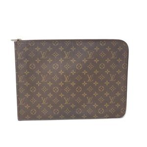 Auth Louis Vuitton Laptop/ Document/Clutch Bag